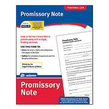 promissory note simple promissory note no interest simple