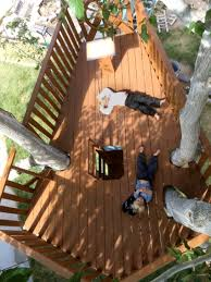dad builds pirate ship treehouse for his 3 sons