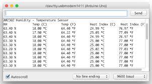 hookup code arduino to am2302 temperature humidity sensor
