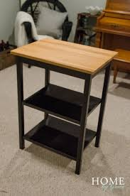 butcher block table home by grace