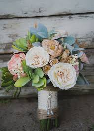 silk flowers for wedding to make a flower bridal bouquet