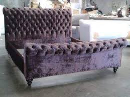 Tufted Sleigh Bed Santa Barbara Collection Custom Upholstered Sleigh Bed 12060