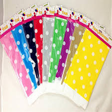 plastic polka dot party tablecloth wedding plastic table cover