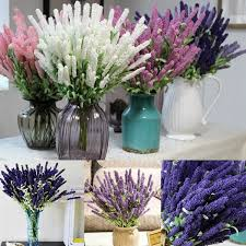 Wedding Home Decoration 12 Heads Artificial Lavender Flower Wedding Party Home Decoration