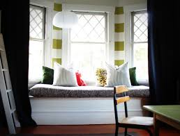 home design window treatment ideas for bay windows beadboard