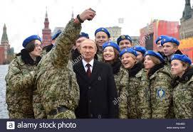 vladimir putin military russian president vladimir putin poses for a selfie with members of