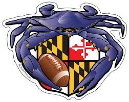 Maryland Flag Vinyl Baltimore Raven Crab Football Maryland Crest Sticker 5x4