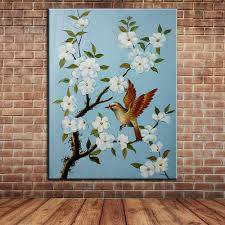 popular painting wall mural buy cheap painting wall mural lots hand painted canvas art modern wall decoration landscape birds and flowers oil painting wall mural pictures