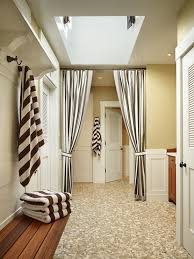 Black And White Stripe Curtains Black And White Curtains Cottage Bathroom Toth Construction