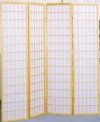 amazon com legacy decor 4 panel natural room divider shoji screen
