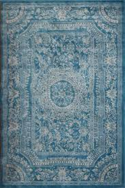 Area Rug Blue Light Blue Traditional Floral Wool