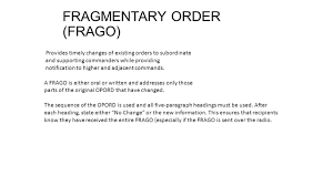 operations study guide categories of orders administrative order