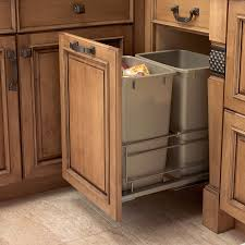 kitchen island with trash storage ideas including cart tilt out