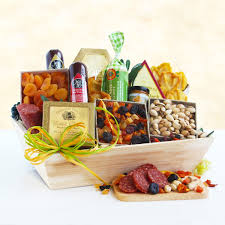 meat and cheese gift baskets deluxe meat and cheese wooden crate gift basket california delicious