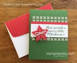simple u0026 quick christmas card stampin u0027 pretty