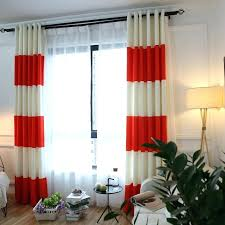 Orange And White Curtains Orange Blackout Curtains Teawing Co