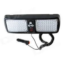 security led lights car super bright 86 led red blue light car truck visor strobe flash
