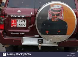 nissan uae typical bumper decoration on a nissan patrol safari 4x4 abu dhabi