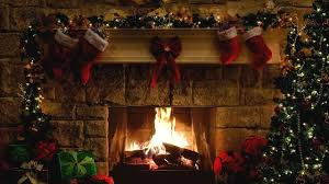 christmas fireplace scene with crackling fire sounds 6 hours