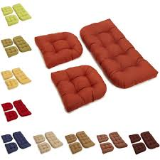 Outdoor Wicker Settee Cushions by This Set Of U Shaped Outdoor Chair Cushions Is A Stylish And