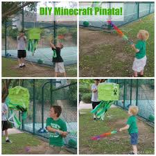 gallamore west 7th birthday simple minecraft party ideas