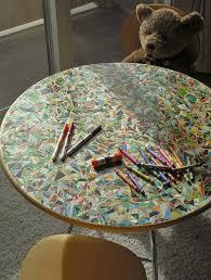 diy mosaic children u0027s storybook table great way to create