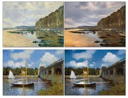 in these examples it transforms monet s impressionist paintings into something resembling real world photographs
