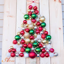 diy holiday ornament christmas tree display an alli event