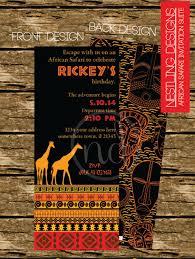 african safari invitation suite printable pdf birthday or