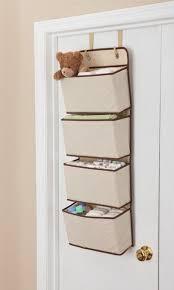 bedroom storage bins 4 pocket hanging wall organizer beige over door toys underwear