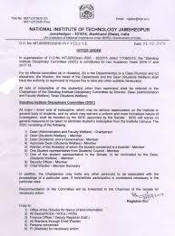 Appointment Letter Format For Hostel Warden Nit Jamshedpur Notice