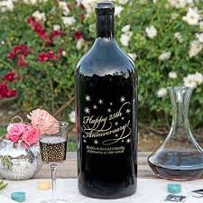 anniversary wine bottles classic anniversary 1 5 liter etched wine etchedwine