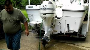 how to flush your outboard boat motor correctly youtube