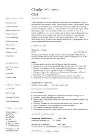 chef resume template chef resume sample writing guide resume