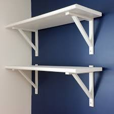 How To Build Wall Shelves White Stair Tread Shelves