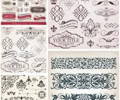 vintage ornament templates vector vector graphic freebies eps