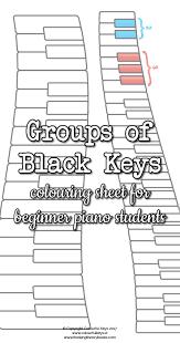 groups of black keys worksheet colourful keys