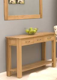 Lovely Light Oak Console Table With Metal And Wood Console Tables