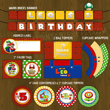 Super Mario Decorations Super Mario Bros Party Decorations Mario Birthday Party Mario