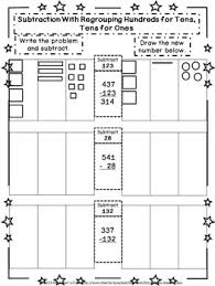 regrouping hundreds for tens tens for ones student workbook