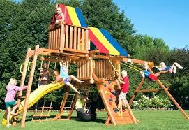 giardino bambini giochi da giardino usati per bambini strutture rainbow with