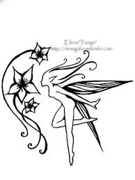Fairy And Flower Tattoo Designs Fairy On Right Shoulder Blade And Flowers Going Down My Spine
