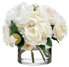 artificial peonies diane camellias and peonies contemporary
