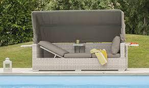 canapé de jardin canapé de jardin modulable en résine tressée avec dossier réglable
