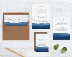 mountain wedding invitations blue ridge mountain wedding invites blue weddings