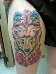 neo traditioanl wolf sheep tattoo by shakey pete the fat anchor