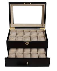 jewelry box 20 20 walnut wood men s box display collection