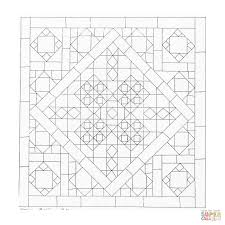 geometric mandala coloring page free printable coloring pages