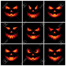 halloween scary clipart jack o lantern scary faces royalty free cliparts vectors and