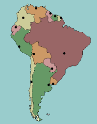 a map of south america test your geography knowledge south america capital cities